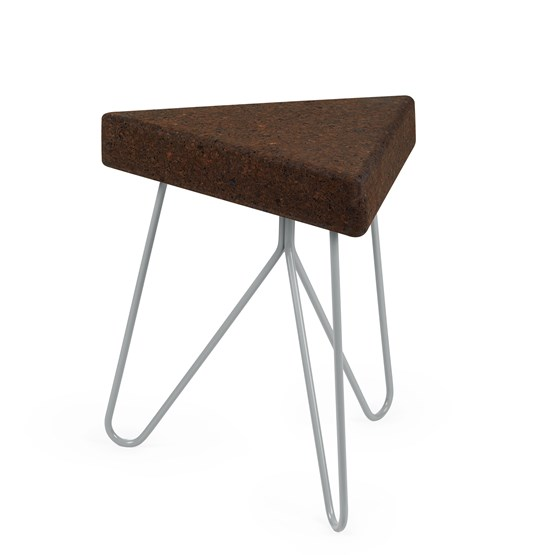 TRES | stool or table -  dark cork and grey legs  - Design : Galula Studio