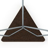 TRES | stool or table -  dark cork and grey legs  5