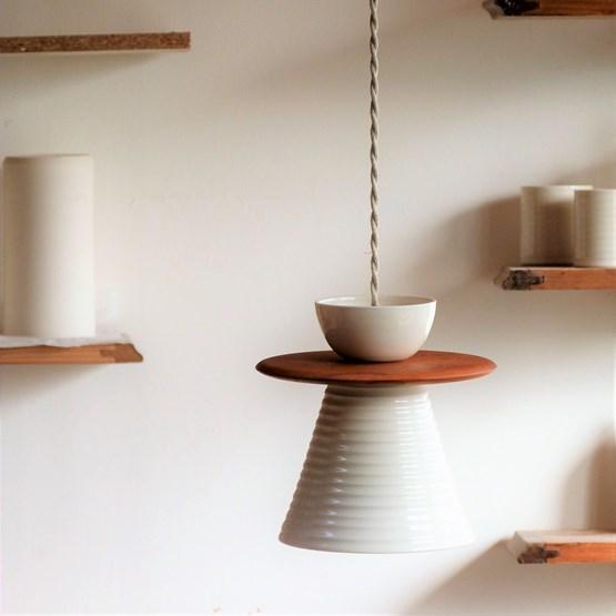NAMI Porcelain pendant lamp - Design : Atelier Pok