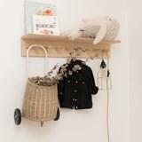 SUREAU wall shelf with hooks - large 10