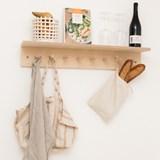 SUREAU wall shelf with hooks - large 2