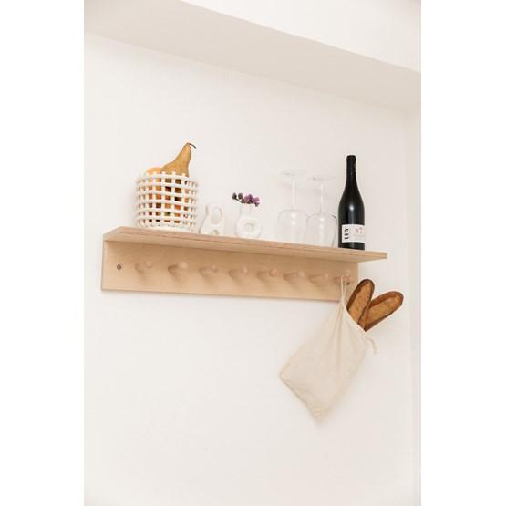 SUREAU wall shelf with hooks - large - Design : Little Anana