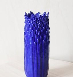 Vase ascensionnel floral S - bleu électrique