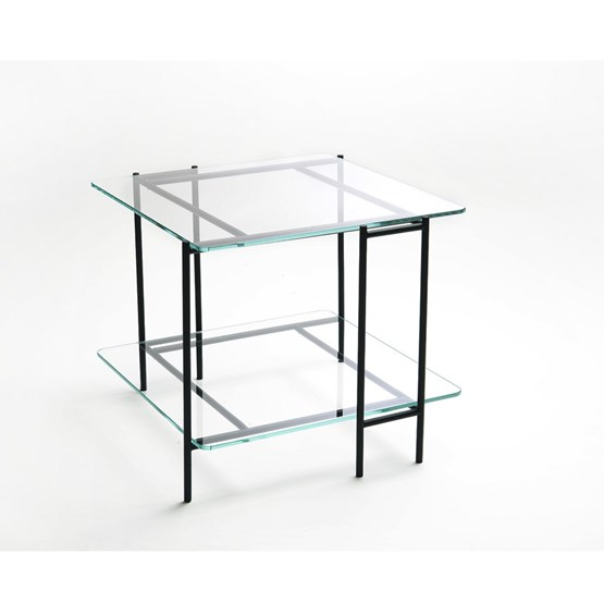 Table MIX S en verre extra-clair - Design : Glassvariations