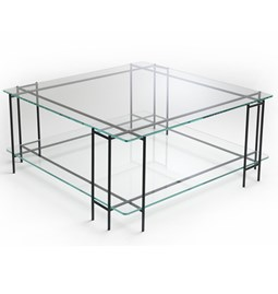 Table basse MIX L en verre extra-clair