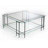 Table basse MIX L en verre extra-clair 2