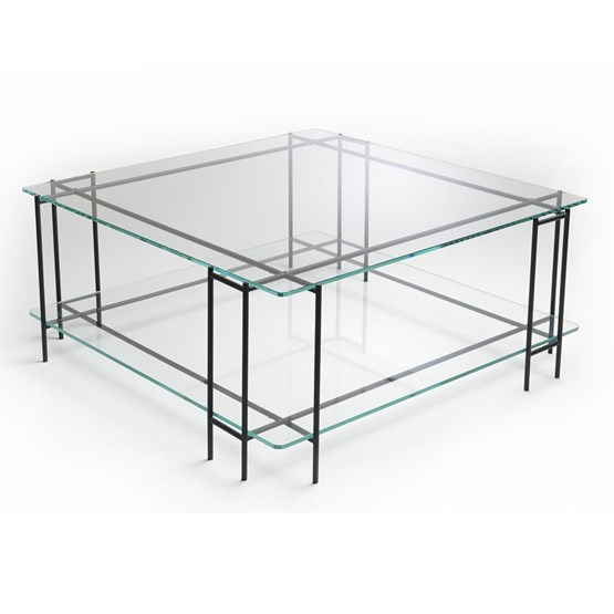 Table basse MIX L en verre extra-clair - Design : Glassvariations