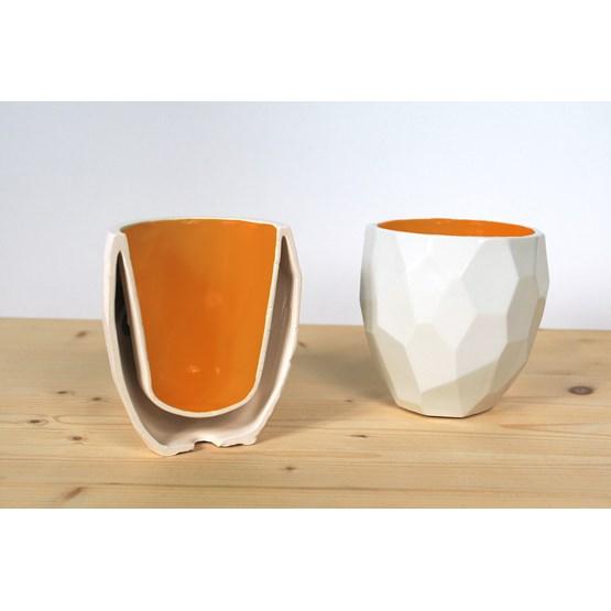 POLIGON Thermo cup - orange - Design : Studio Lorier