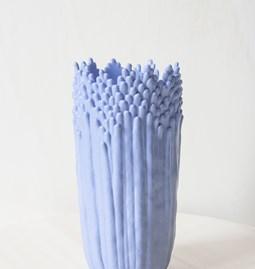 Vase ascensionnel floral épanoui - bleu lavande