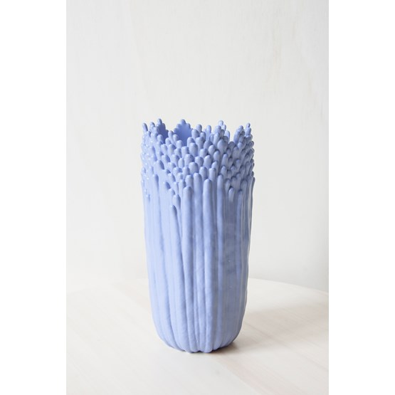 Vase ascensionnel floral épanoui - bleu lavande - Design : Cécile Bichon