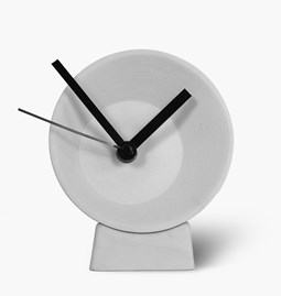 Off-Center Desk Clock - grey