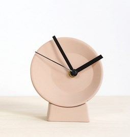 Off-Center Desk Clock - pink