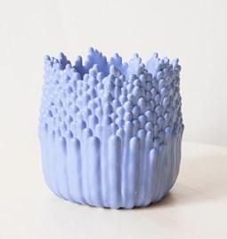 Cache-pot ascensionnel floral M - bleu lavande