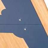 Bureau ATOME - acier bleu et chêne 9