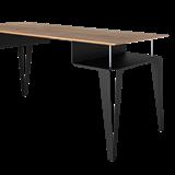 ATOME desk - black steel and oak  12