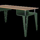 ATOME desk - green steel and oak  12