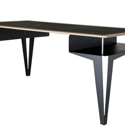 BISEAU desk - valchromat black steel