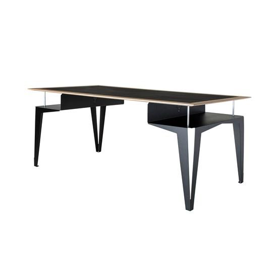 Bureau BISEAU - acier noir valchromat  - Design : Blaq&Co