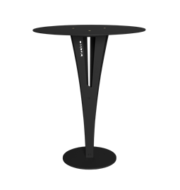 CAPUCIN side table - black steel and brass