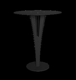 Table d'appoint CAPUCIN - acier noir et laiton