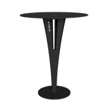 Table d'appoint CAPUCIN - acier noir et laiton 2