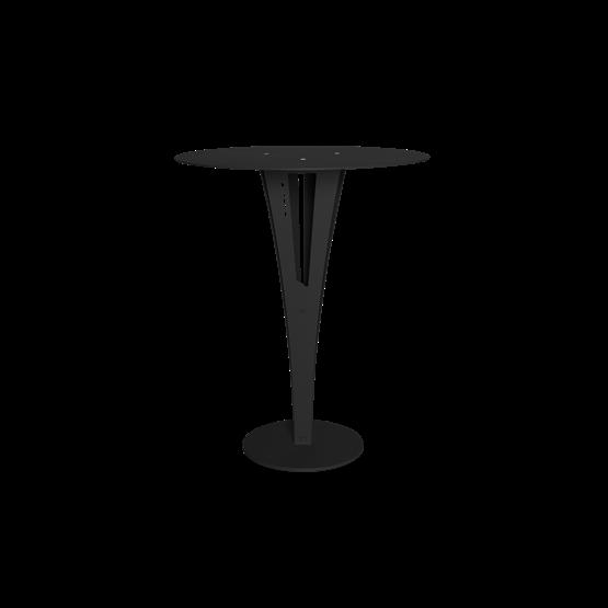 Table d'appoint CAPUCIN - acier noir et laiton - Design : Blaq&Co