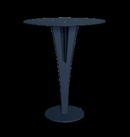 Table d'appoint CAPUCIN - acier bleu et laiton