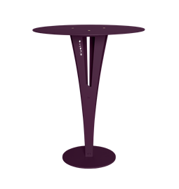 CAPUCIN side table - purple steel and brass
