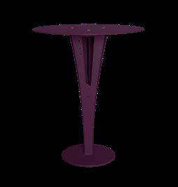 Table d'appoint CAPUCIN - acier pourpre et laiton