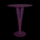Table d'appoint CAPUCIN - acier pourpre et laiton 12