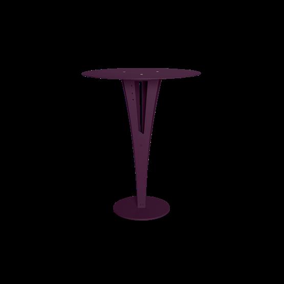 Table d'appoint CAPUCIN - acier pourpre et laiton - Design : Blaq&Co