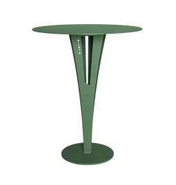 CAPUCIN side table - green steel and brass