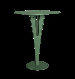Table d'appoint CAPUCIN - acier vert et laiton