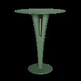 Table d'appoint CAPUCIN - acier vert et laiton 12