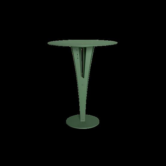Table d'appoint CAPUCIN - acier vert et laiton - Design : Blaq&Co