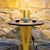 Table d'appoint AUGUSTIN - acier jaune et valchromat 9