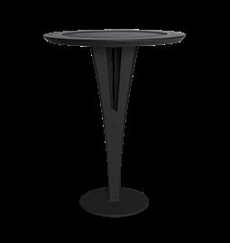 Table d'appoint AUGUSTIN - acier noir valchromat
