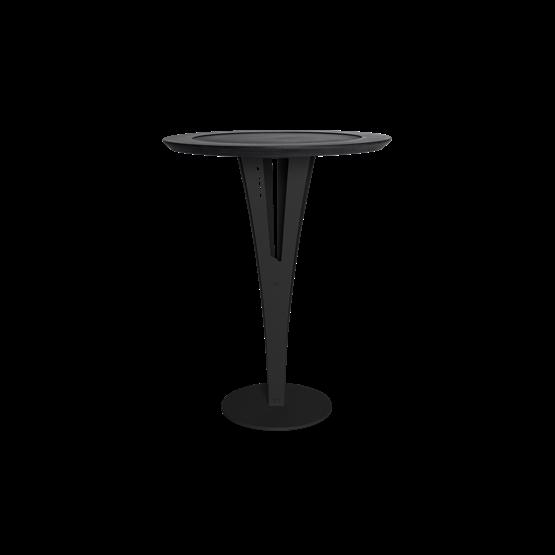 Table d'appoint AUGUSTIN - acier noir valchromat - Design : Blaq&Co