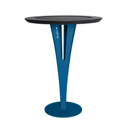 AUGUSTIN side table - valchromat blue steel