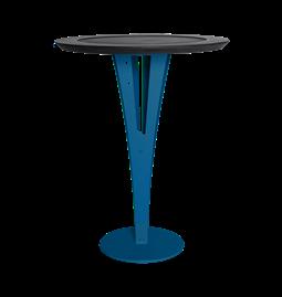 Table d'appoint AUGUSTIN - acier bleu valchromat