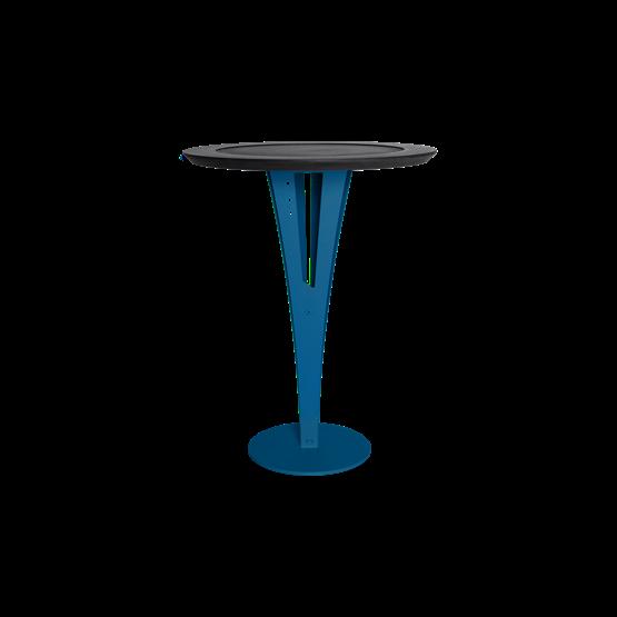 Table d'appoint AUGUSTIN - acier bleu valchromat - Design : Blaq&Co