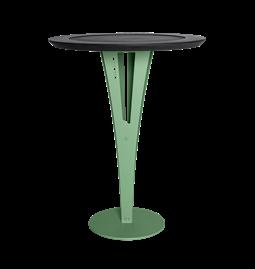 Table d'appoint AUGUSTIN - acier vert valchromat