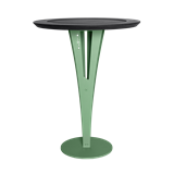 Table d'appoint AUGUSTIN - acier vert valchromat 14