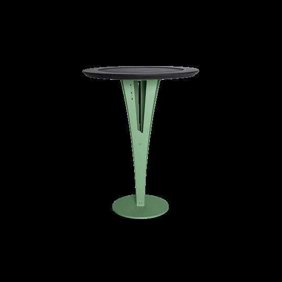 Table d'appoint AUGUSTIN - acier vert valchromat - Design : Blaq&Co