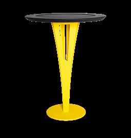 Table d'appoint AUGUSTIN - acier jaune et valchromat