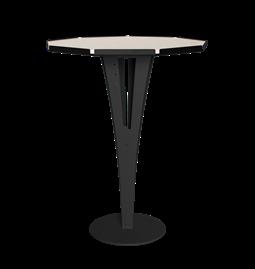 Table d'appoint FELICIEN - acier noir et céramique marbre blanc