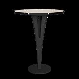 Table d'appoint FELICIEN - acier noir et céramique marbre blanc 12