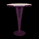 Table d'appoint FELICIEN - acier pourpre et céramique marbre blanc  12