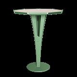 Table d'appoint FELICIEN - acier vert et céramique marbre blanc   12