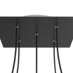 Set of 5 black Archy pendant light - 2 medium & 3 small 4